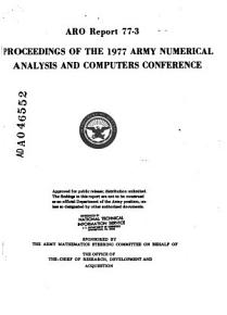 Proceedings of the Army Numerical and Computers Analysis Conference PDF