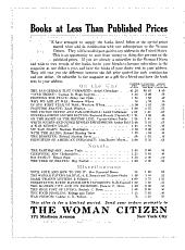 The Woman Citizen: Volume 3