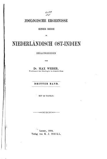Zoologische Ergebnisse einer Reise in Niederl  ndisch Ost Indien PDF