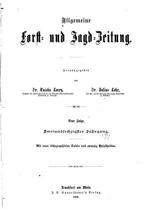 Allgemeine Forst und Jagdzeitung PDF