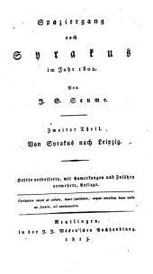 Spaziergang nach Syrakus im Jahr 1802: Von Syrakus nach Leipzig, Band 2