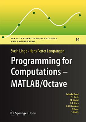 Programming for Computations - MATLAB/Octave