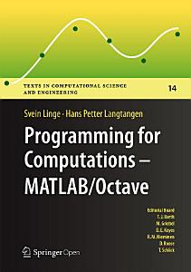 Programming for Computations   MATLAB Octave PDF
