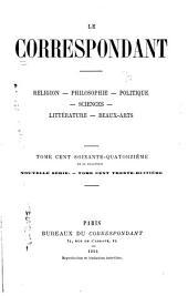 Le Correspondant: Volume174