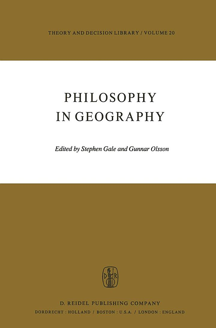 Philosophy in Geography