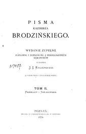 Pisma Kazimierza Brodzińskiego: Przekłady i Naśladowania, Tom 2