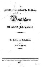 Das politisch-reformatorische Richtung der Deutschen im XVI. und XIX. Jahrhundert