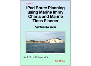 iPad Route Planning  Sample PDF only  using Marine Imray Charts and Marine Tides Planner