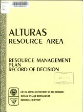 Alturas Resource Area: Resource Management Plan, Record of Decision