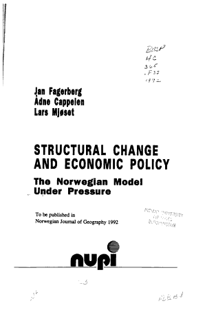 Structural Change and Economic Policy PDF