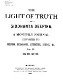 The Siddhanta Deepika Or the Light of Truth