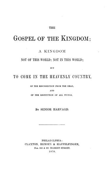 Download The Gospel of the Kingdom Book