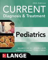 CURRENT Diagnosis and Treatment Pediatrics  Twenty Fourth Edition PDF