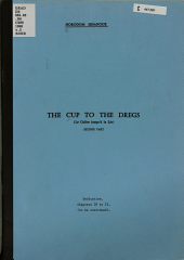 The Cup to the Dregs PDF