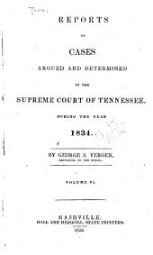 Reports of Cases Argued and Determined in the Supreme Court of Tennessee: Volume 14