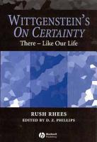 Wittgenstein s On Certainty PDF