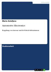 Automotive Electronics: Kopplung von Autosar und In-Vehicle-Infotainment