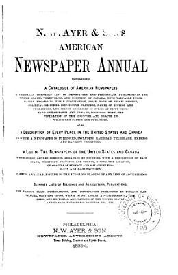 N W  Ayer   Son s American Newspaper Annual PDF