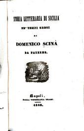 Storia letteraria di Sicilia ne' tempi greci