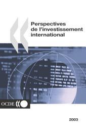 Perspectives de l'investissement international 2003
