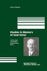 Studies in Memory of Issai Schur PDF