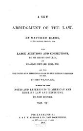 A New Abridgment of the Law: Volume 4