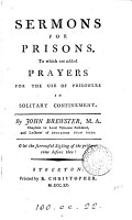 Sermons for prisons  To which are added prayers for the use of prisoners PDF