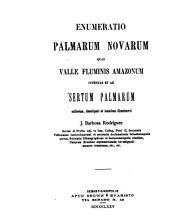 Enumeratio palmarum novarum: seguido de um Protesto e de novas palmeiras