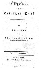 Über den deutschen Styl