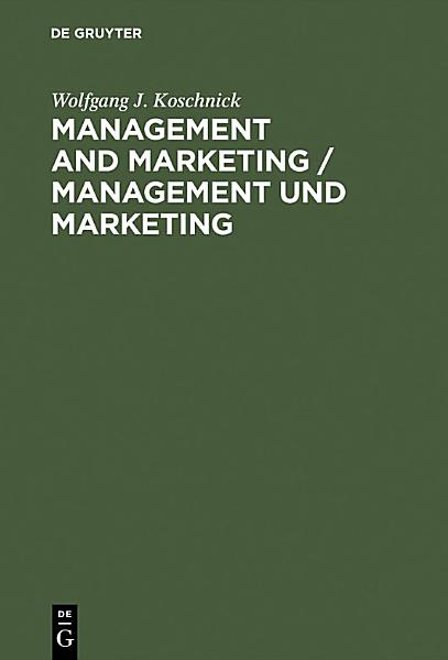 Management and Marketing   Management und Marketing