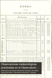Observaciones meteorológicas practicadas en el Observatorio astronómico nacional de Tacubaya