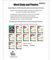 Spectrum Word Study And Phonics Grade 5