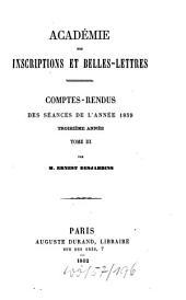 Comptes rendus des séances: de l'année. 1859