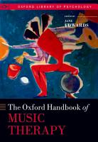 Oxford Handbook of Music Therapy PDF