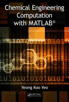 Chemical Engineering Computation with MATLAB   PDF
