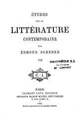 Etudes sur la littérature contemporaine: Volume7