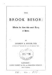 The brook Besor: words for those who must tarry at home