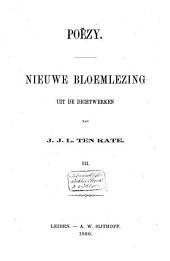 Poëzy: nieuwe bloemlezing uit de dichtwerken van J.J.L. ten Kate, Volume 3