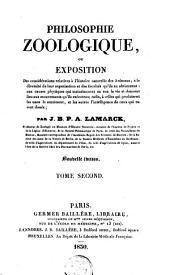 Philosophie zoologique ou Exposition des considérations relatives à l'histoire naturelle des animaux: Volume2