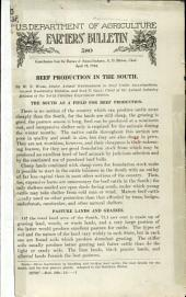 Beef production in the South