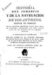Historia del comercio y de la navegacion de los antiguos