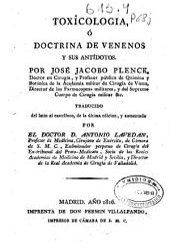 Toxicologia ó doctrina de venenos y sus antídotos