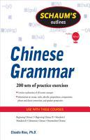 Schaum s Outline of Chinese Grammar PDF