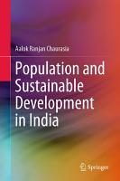 Population And Sustainable Development In India