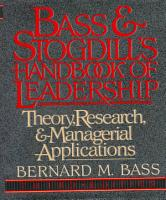 Bass   Stogdill s Handbook of Leadership PDF