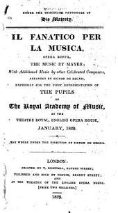 Il fanatico per la musica: opera buffa