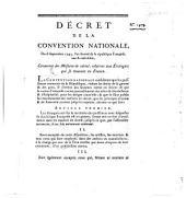 Decret de la Convention Nationale: 1479. 1793