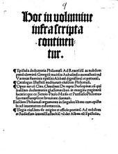 Hoc in volumine infra scripta continentur Epistola dedicatoria Philomusi ... Opus aureum Clau. Claudiani De raptu Proserpinae: cum quibusdam Glossematibus ...