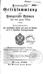 Provincial-gesetzsammlung des Königreichs Bömen: Band 27