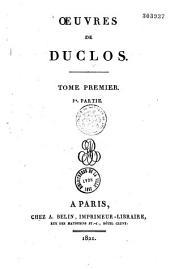 Oeuvres de Duclos...